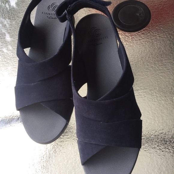 Clarks Cloudsteppers Navy Sandals 85 W